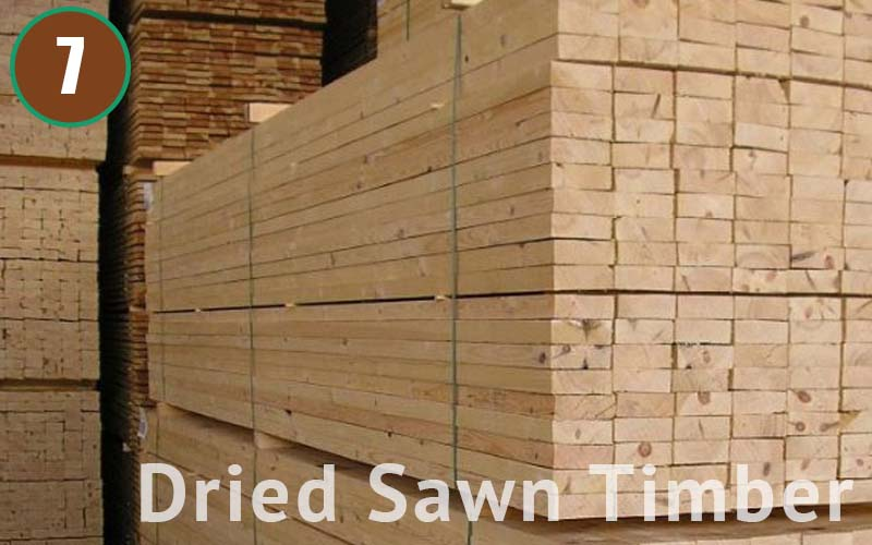 Dried Sawn Timber are less likely to reshape or grow mold. Log form and this form are the best stages to keep our stock level.
